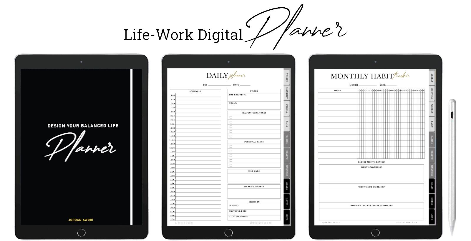 life work digital planner Jordan awori